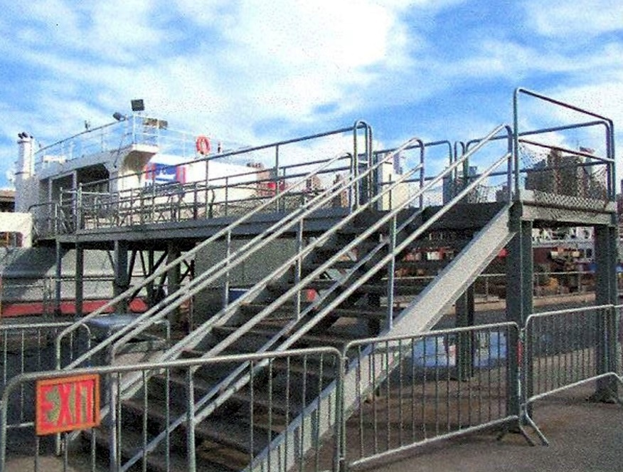 Stairs and Ramps for the Intrepid in NY Harbour
